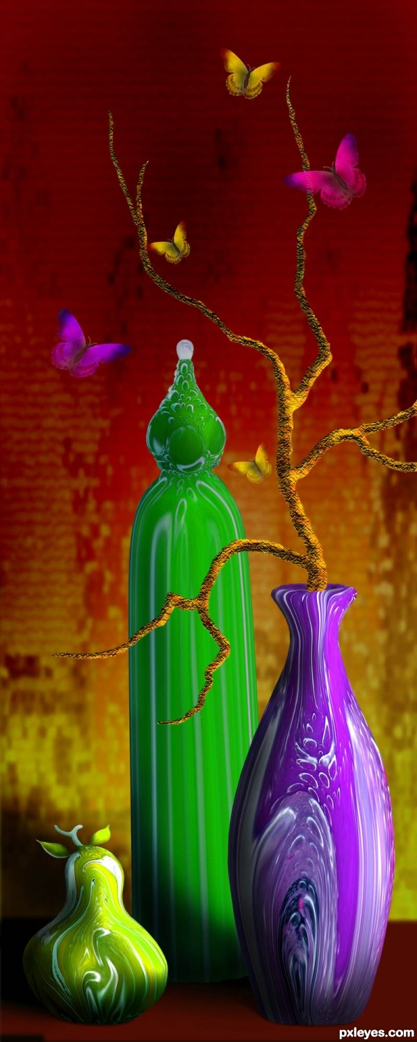 Vases and Butterflies