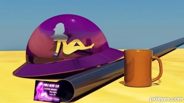 Purple Hard Hat
