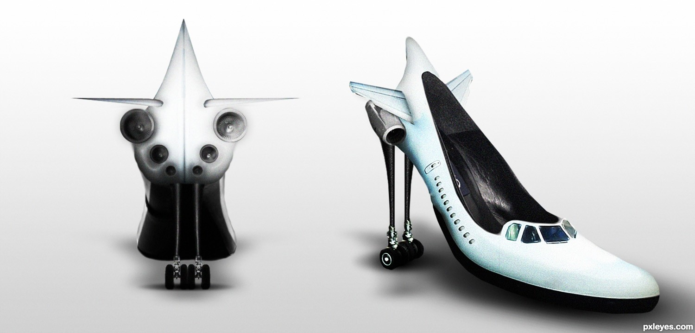 Flugzeug-Schuh / Pumps