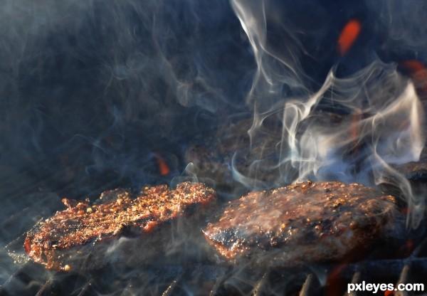 burning the burgers