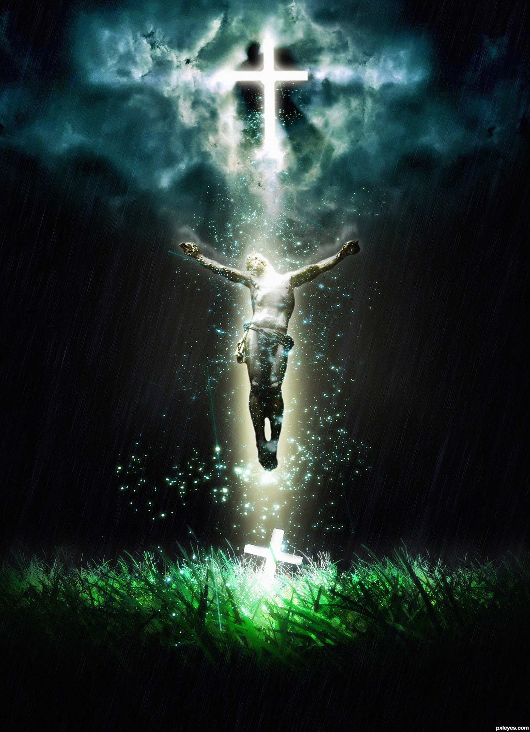 The RESURRECTION picture for: crosses photoshop contest - Pxleyes.com