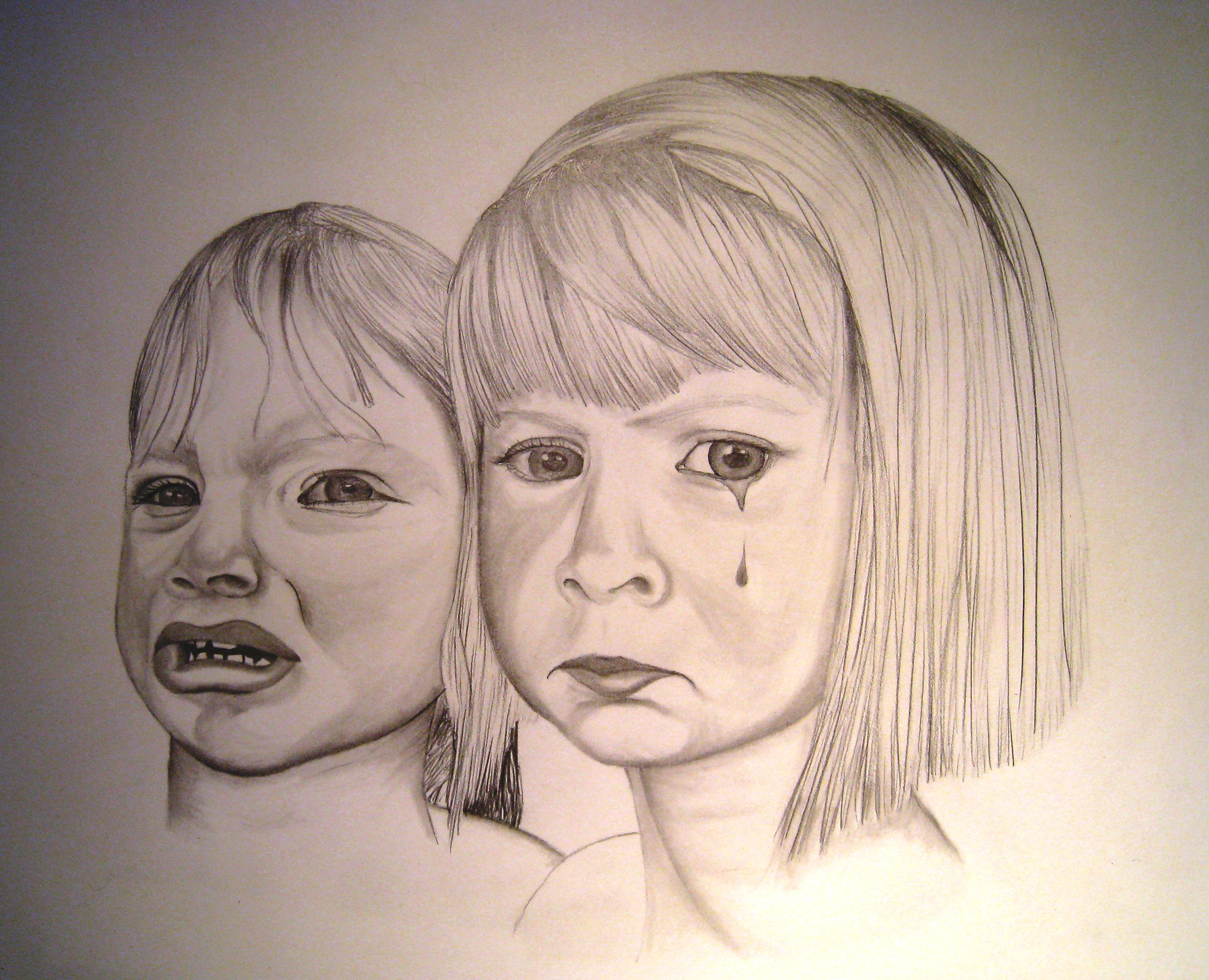 Crying Child Face Draw...