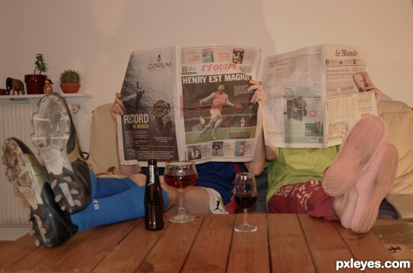 Each one with its newspaper