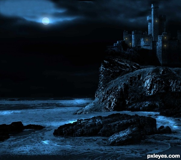 Moonlight photoshop picture)