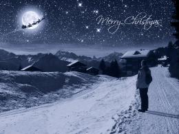 I saw Santa Claus