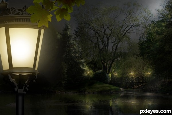The Park: Day Into Night photoshop picture)