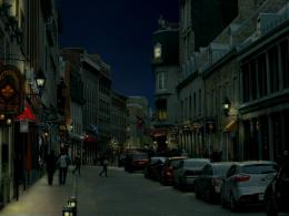 Old town at night
