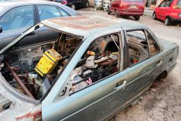 Decaying car and contents, Brunei  Entry number 109976