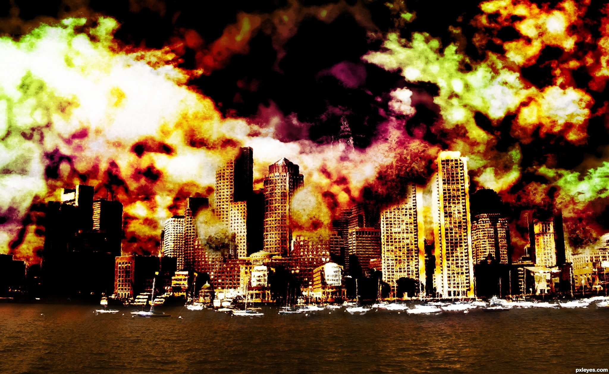 City on Fire picture, by tnaylor21286 for: destruction therapy ...