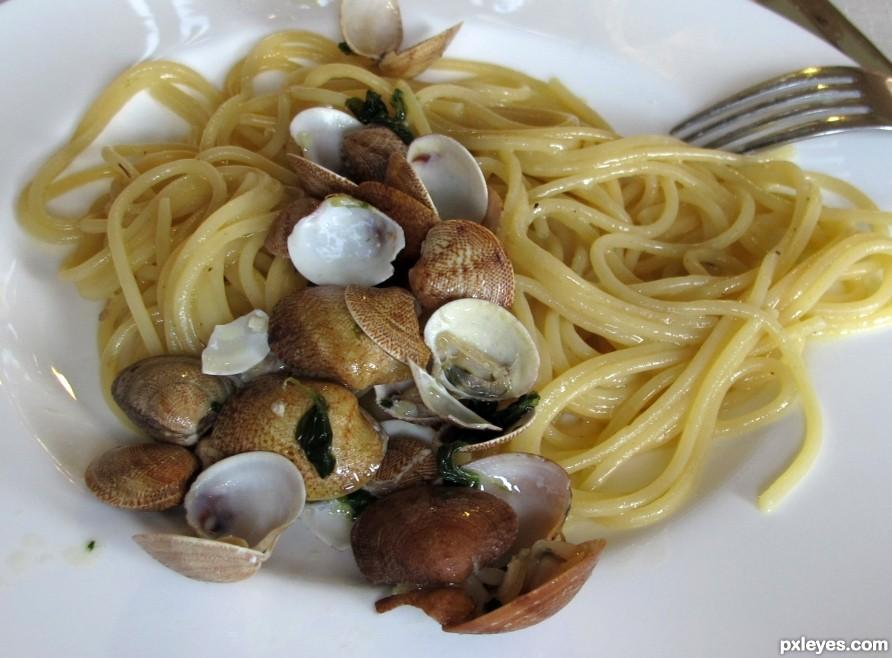 Spaghetti e vongole