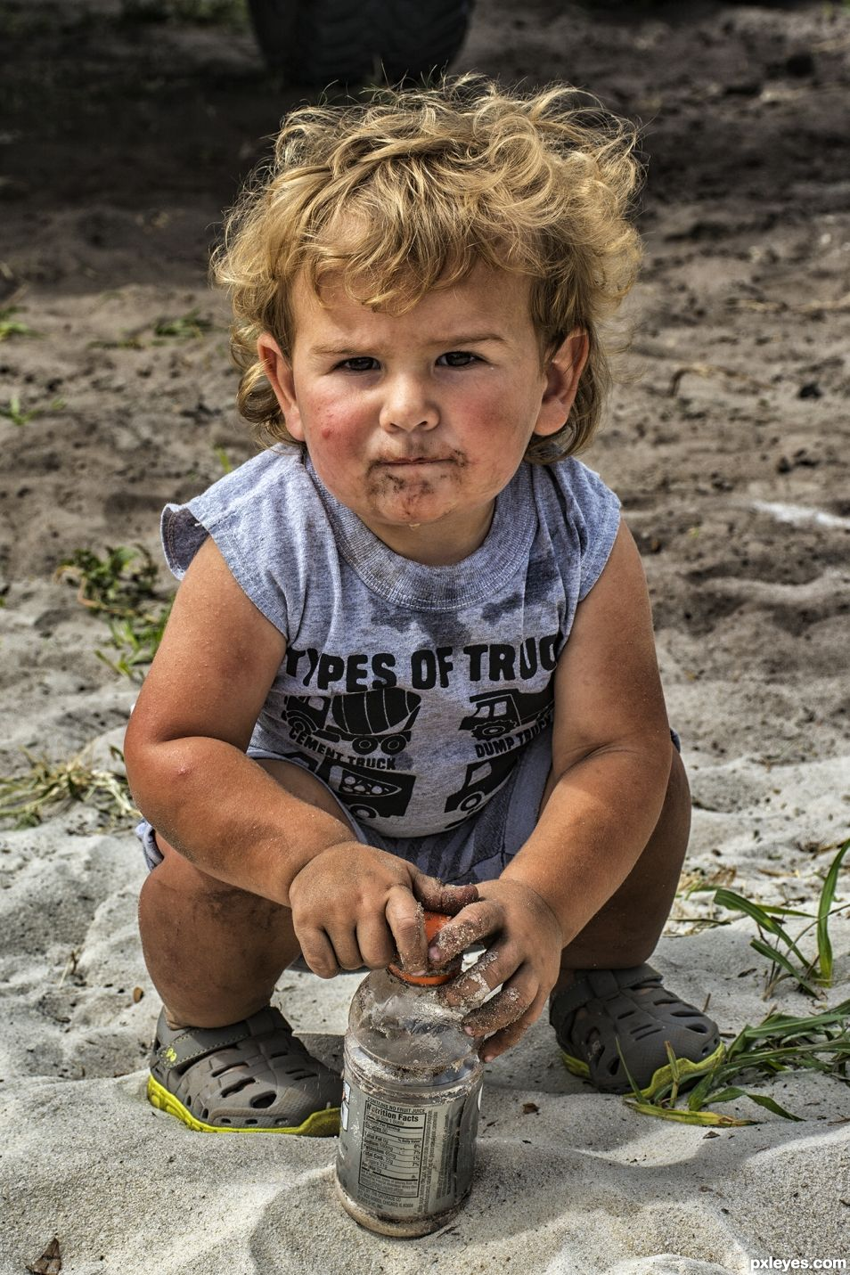 Cole playing in the dirt