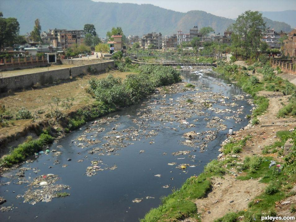 Bagmati river in Kathmandu
