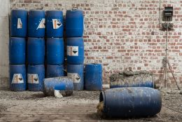 The blue barrels