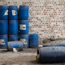 The blue barrels Picture