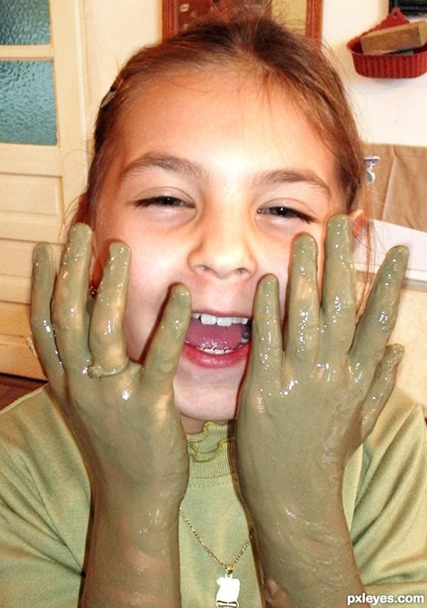 I have modern manicure