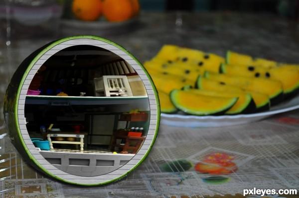 Inside the melon