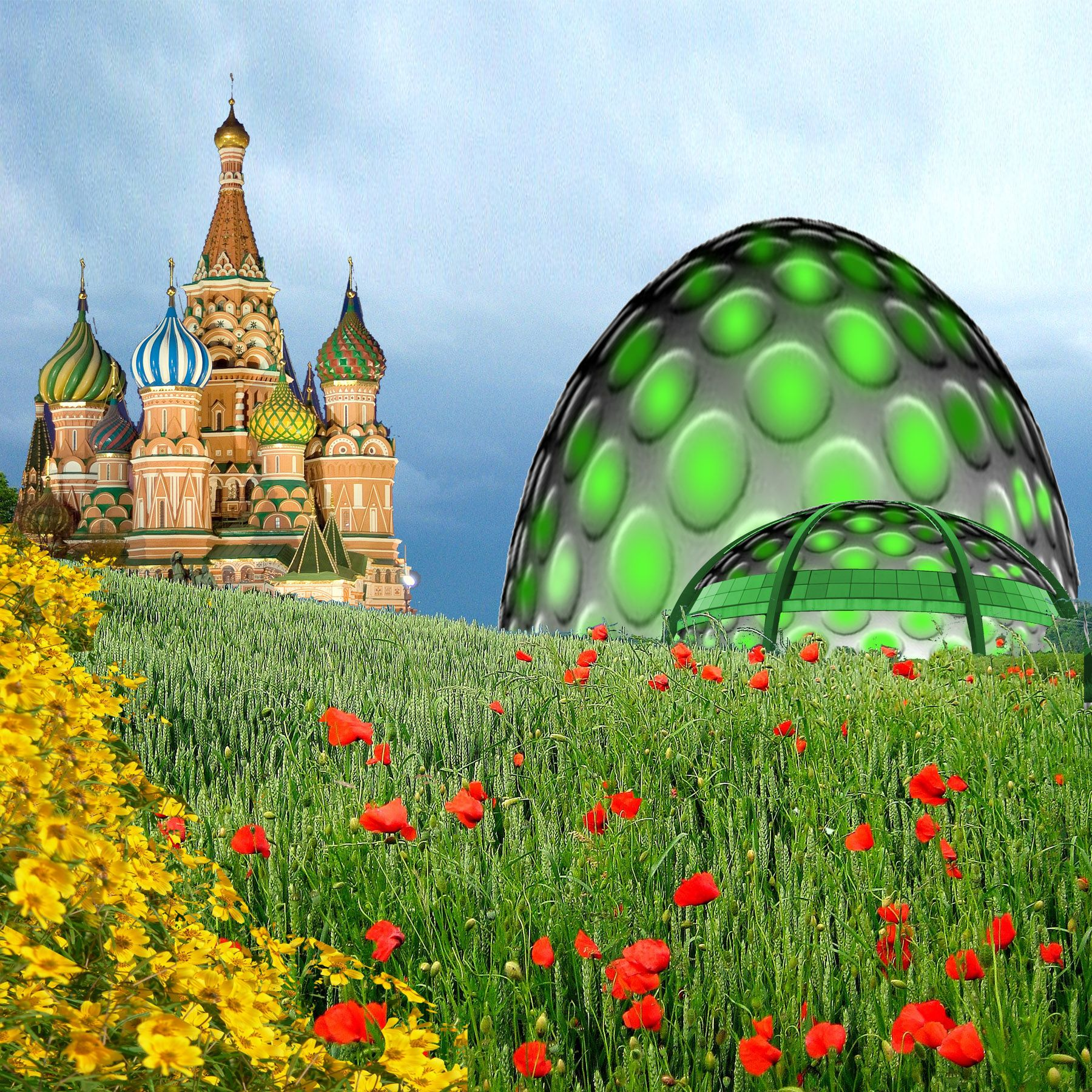 Dome House Futuristic: Past And Future Domes Picture, By DigitalPro For: Dome