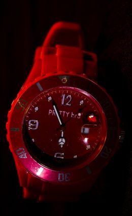Red wristwatch