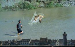 Fishing a bird