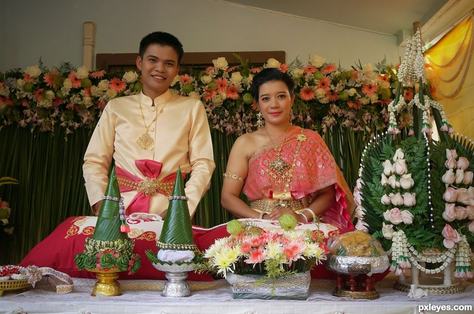 Thai Bride and Groom