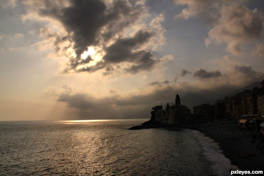 Camogli at sunset