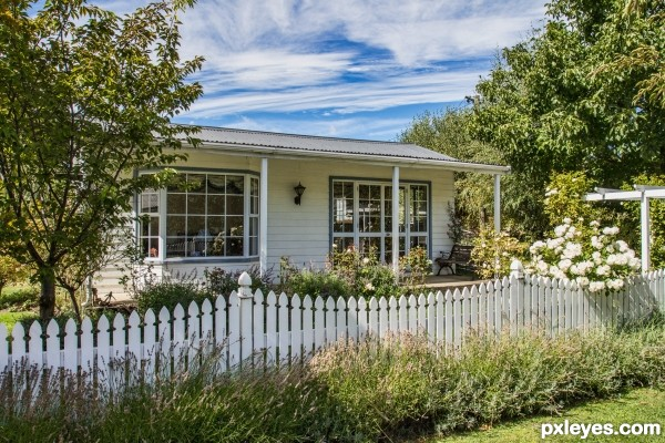 Id love a little cottage with a white picket fence.