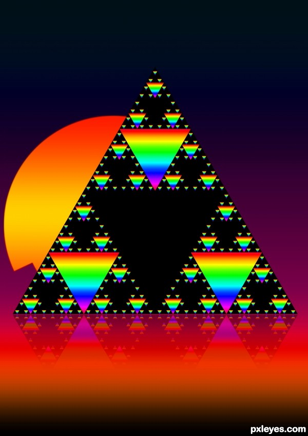 Creation of Sierpinski's triangle: Final Result