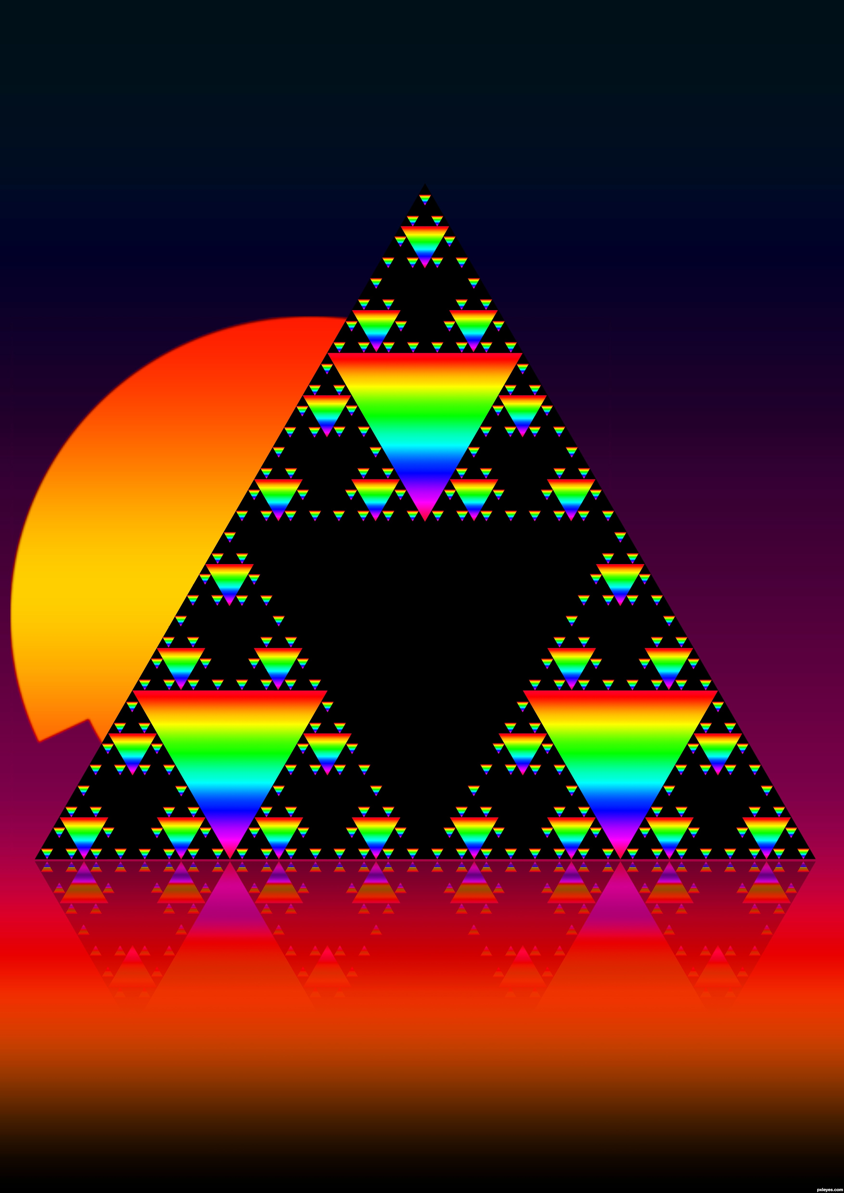 sierpinski u0026 39 s triangle picture  by joellemt for  duplicate frenzy photoshop contest