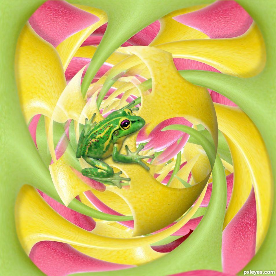 pastel froggy