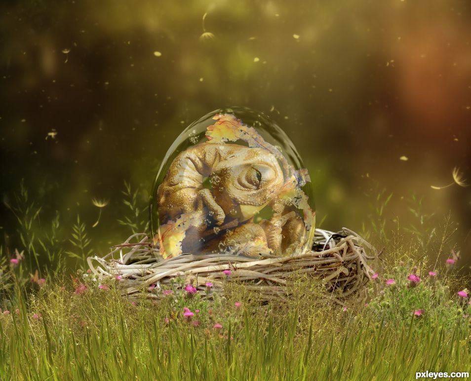 Baby Dinosaur in an Egg