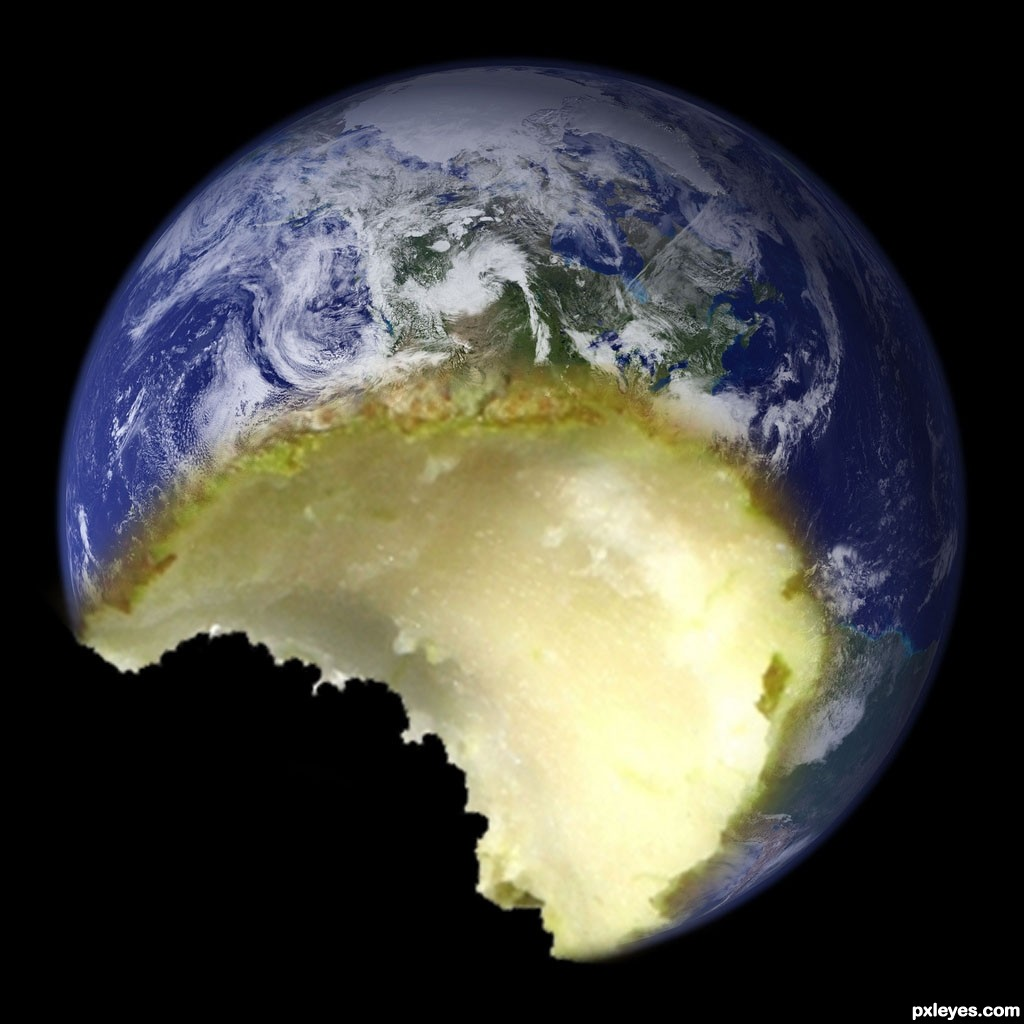 Oceans Apart Day After Day: Eaten Earth Picture, By Janetww For: Eaten Pear Photoshop
