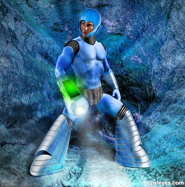Mega Man photoshop picture)