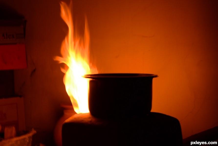 Food making flames