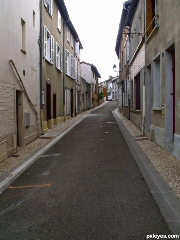 Little lane in France