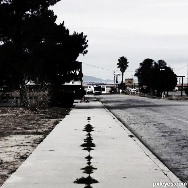 One Sidewalk Town