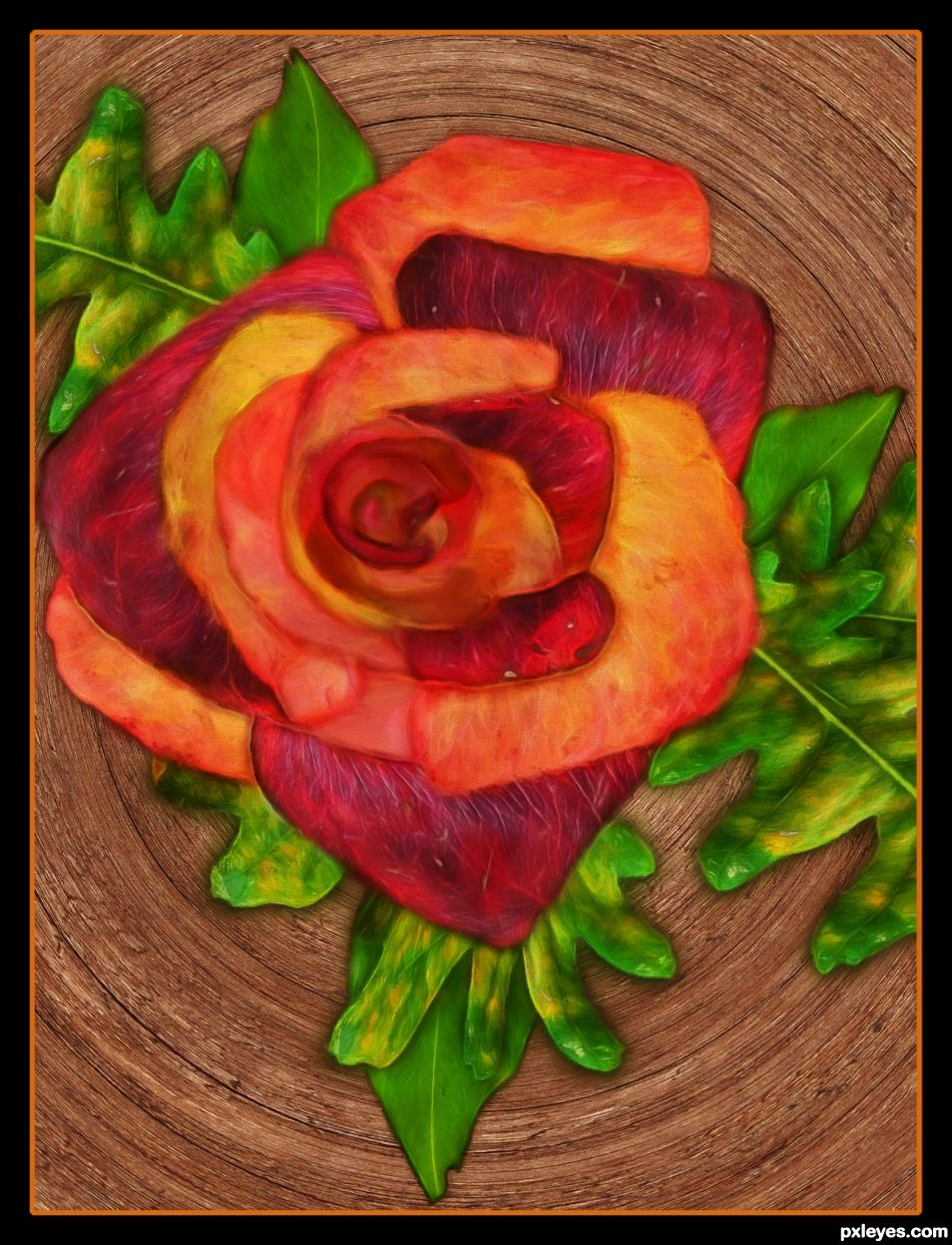 Creation of Autumn Rose: Final Result