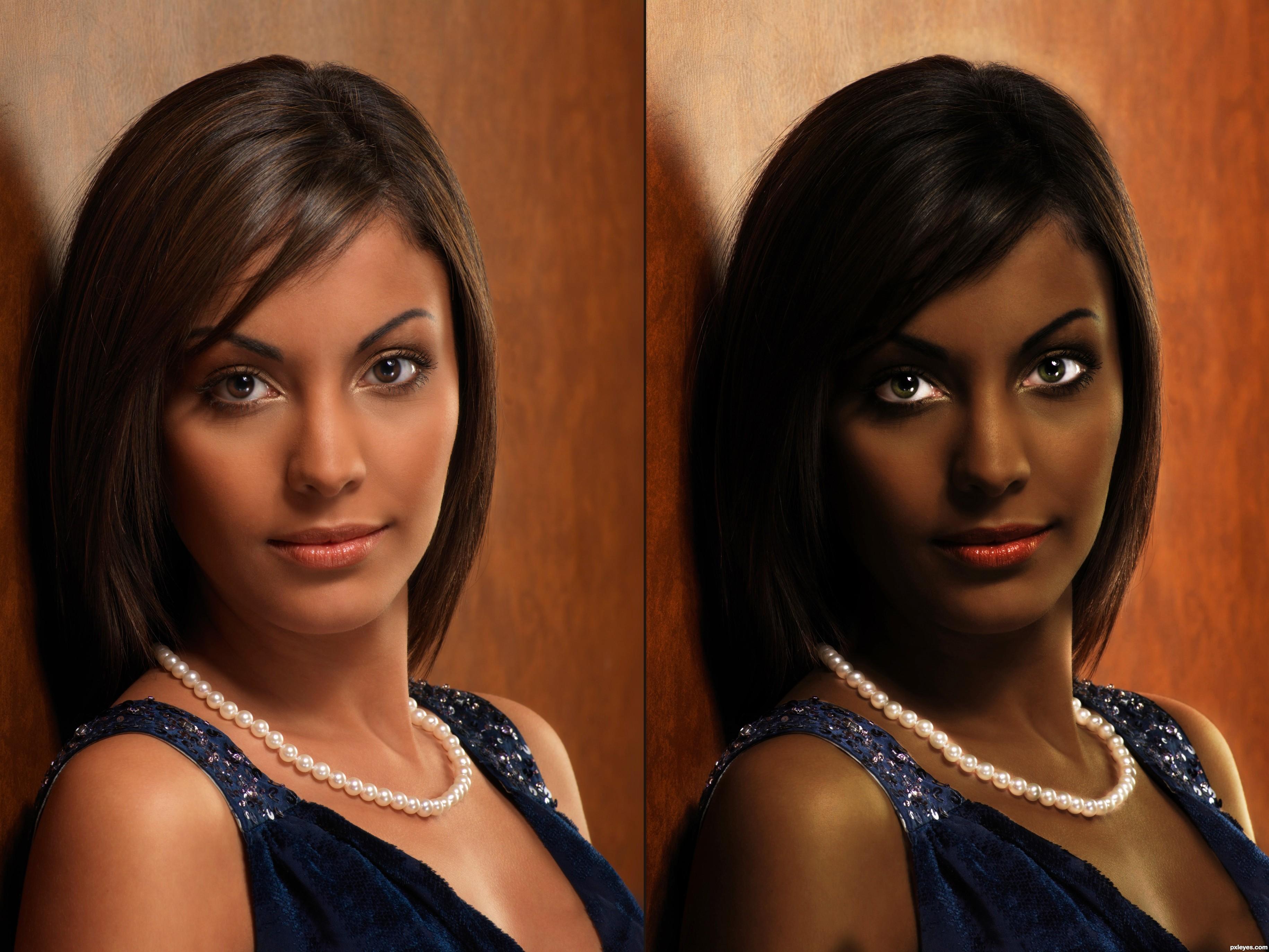 Race Change Makeup White To Black Makeup Photography