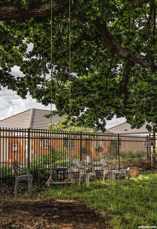 Swing outside retirement village