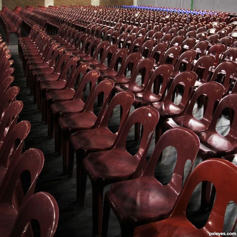 Where is the audience ?