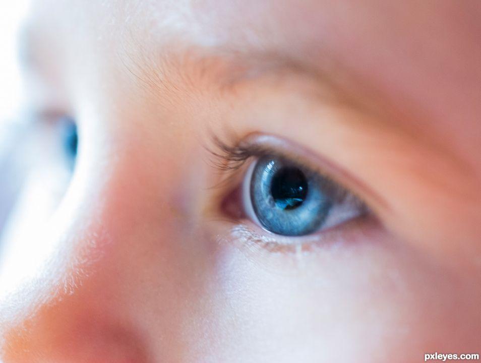 Babys got blue eyes