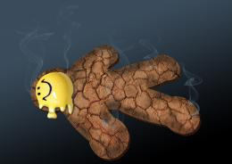 Burnt gingerbread man