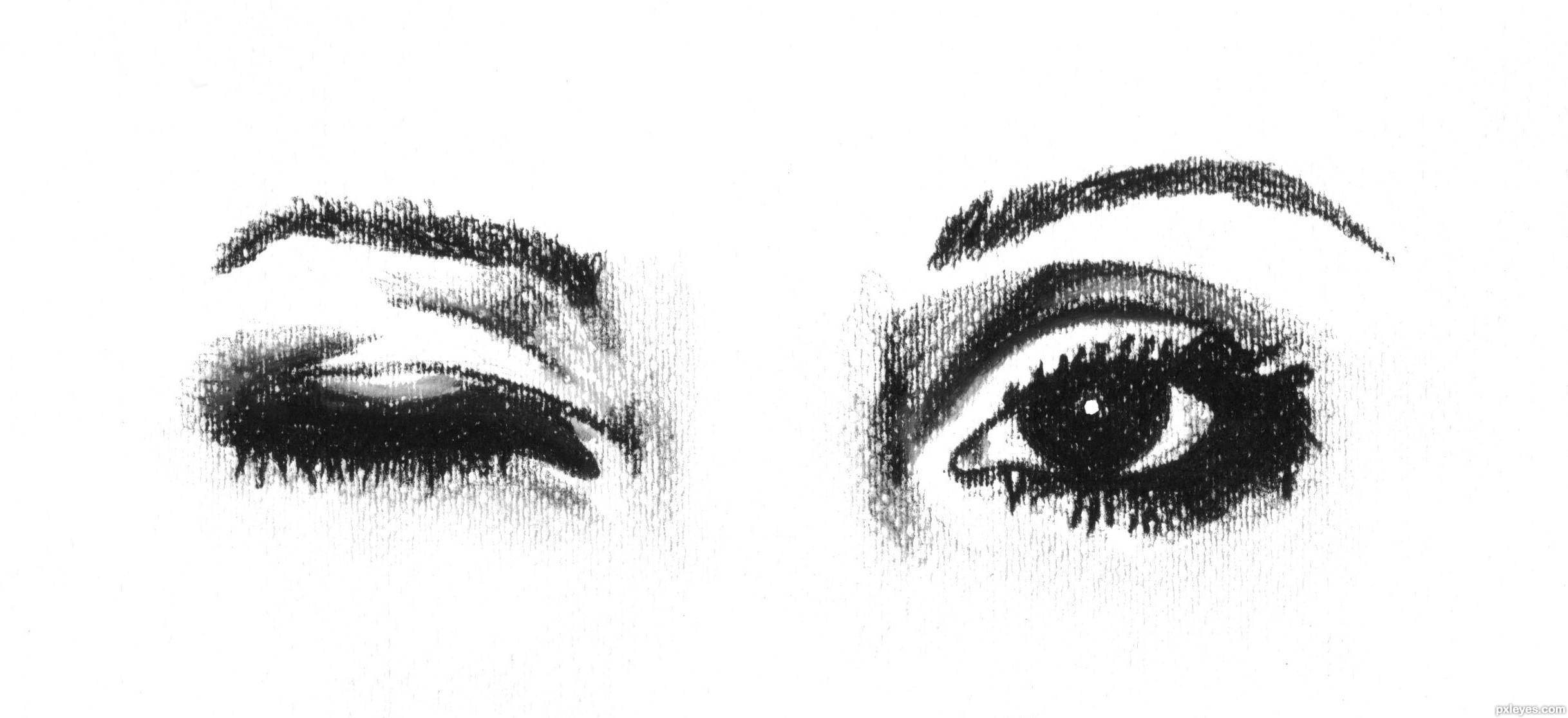 wink wink.... - created by loriann88Eyes Drawing Contest