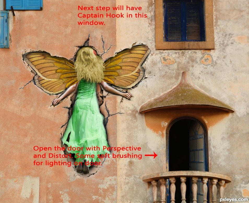 Creation of Tinkerbell - Look Out for the Wall: Step 16