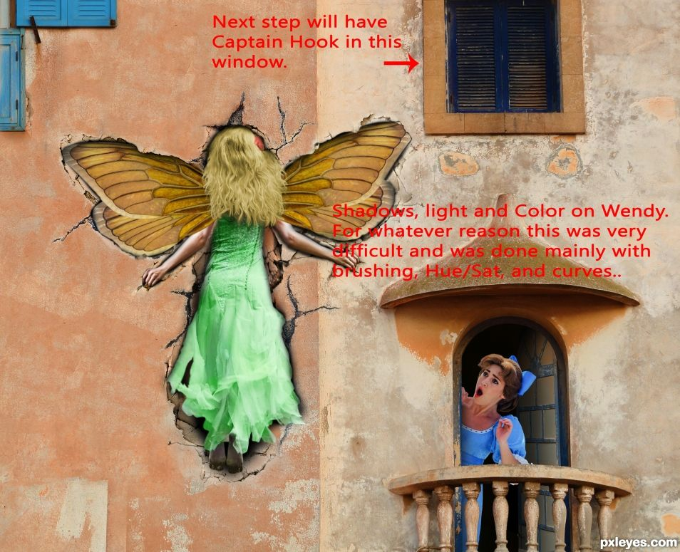 Creation of Tinkerbell - Look Out for the Wall: Step 18