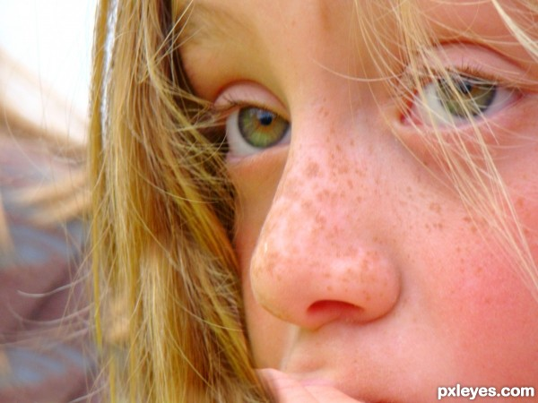 Young sad eyes