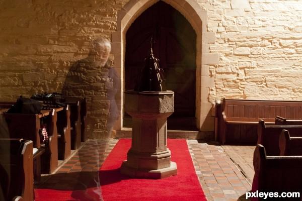Ghost seen in church!!