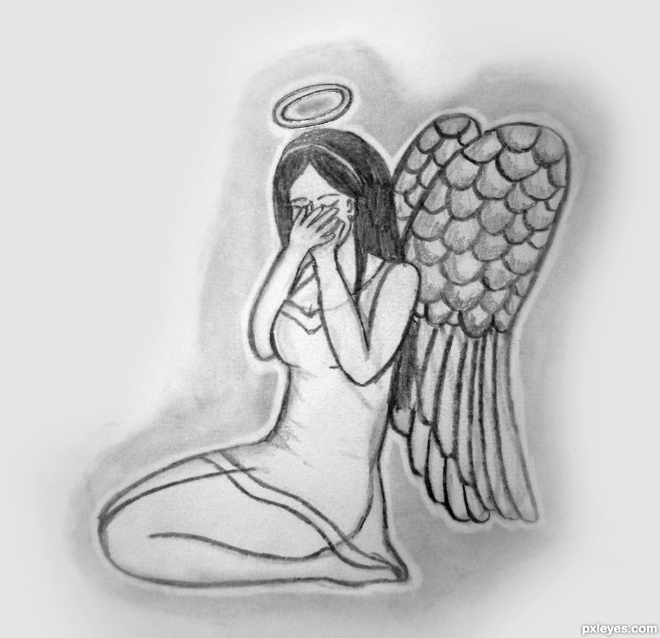 crying picture by crystleclear for fallen angel td drawing