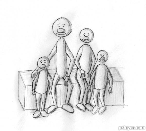 small skinny family