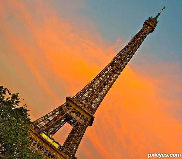 Leaning Eiffel Tower Paris France photography picture