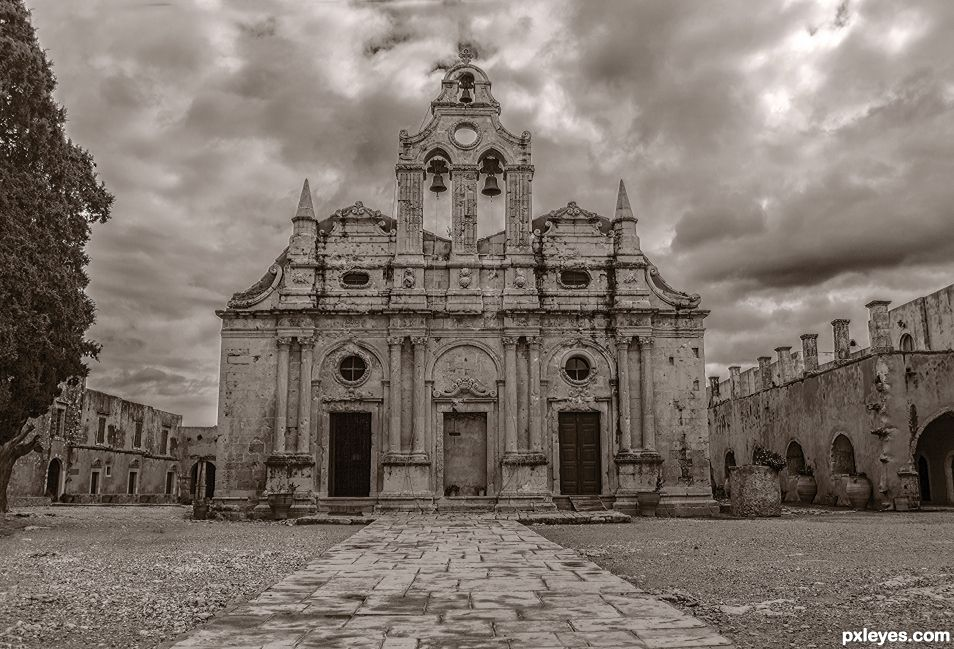 """Arkadi Monastery""  Crete"